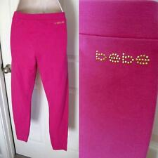 BEBE LOGO PINK BASIC LEGGING PANTS NEW NEW $69 SMALL S