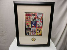 Disney Gallery Picture Frame Mickey's Mouse 70th Birthday Seal Limited 17 X 22