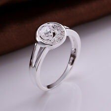 Wholesale women new elegant silver Jewelry Classic ring sz8 R447