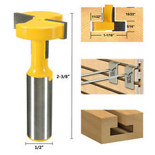 T-Slot & T-track Slotting Router Bit 1/2'' Shank For Woodworking Chisel Cutter