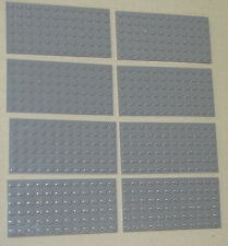 LEGO LOT OF 8 NEW LIGHT BLUISH GREY 6 X 12 DOT PLATES PLATFORMS BUILDING BLOCKS