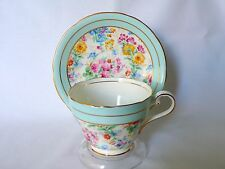 Aynsley Floral Chintz Bone China Cup & Saucer Set
