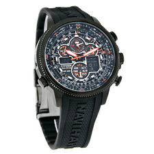 Citizen Eco-Drive Navihawk A-T Mens Atomic Black Rubber Strap Watch JY8035-04E