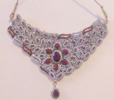 BOLLYWOOD INDIAN JEWELERY/ BRIDAL NECKLACE SET 8 PIECE