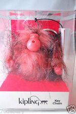 NWT Kipling Chic Pink Monkey Key Chain Key Ring Bag Charm