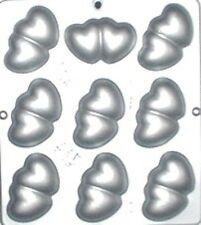 Double Heart Chocolate Candy Mold Valentine  3016 NEW