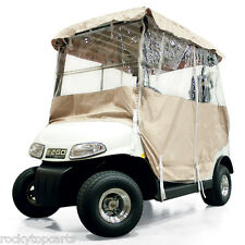 Universal Fit Golf Car Vinyl Enclosure 4-sided 2-Passenger in Sand Color