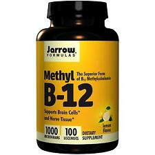Jarrow Formulas Vitamin B-12 - 100 - 1000mcg Lozenges - Lemon Flavour Methyl B12