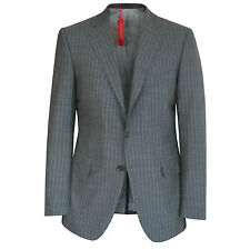 BOGLIOLI $1,395 gray wool striped slim fitted blazer italian sportcoat 40/50 NEW