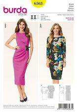 BURDA DRESSMAKING SEWING PATTERN MISSES' DRESS SIZE 8 TO 20 6563