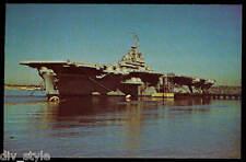 USS Bunker Hill CV-17 postcard  US Navy warship WWII aircraft carrier