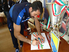 Buffon Fascia Italia Capitani Tricolore preparata match worn AUTOGRAFO signed