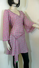 Kaftan Tunic Top Size 12  Indian Beach Wear Kurta Long Tunic Boho Chic Hippy Top