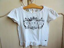 Scotch R'Belle Girls White graphic T shirt size 10