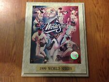 OFFICIAL MLB 1999 NEW YORK YANKEES & BRAVES WORLD SERIES CHAMPIONS PHOTO PLAQUE