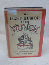 William Cole THE BEST HUMOR FROM PUNCH  Illustrated by SPROD  1st Ed 1953  HC/DJ