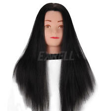 "Salon 22"" Hair Mannequin Practice Training Head Hairdressing & Clamp High Qualty"