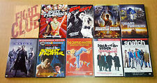 (10) Action DVDs ^ Fight Club Scott Pilgrim Matrix Sin City Snatch Transformers