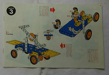 Meccano n° 3 manuel d'instruction 1967