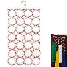 28 Ring Hole Clothes Tie Belt Shawl Scarf Hanger Holder Closet Organizer Hook