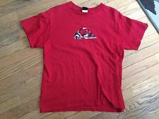 boys quiksilver short sleeved cotton red shirt extra large xl 20