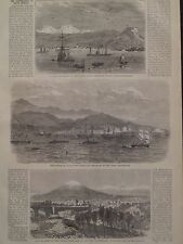 Peru Earthquake Plaza Of Arequipa Volcano South America 1868 Harper's Weekly