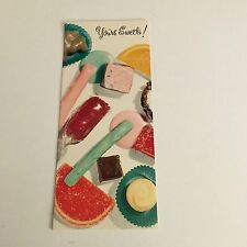 Vintage Greeting Card Birthday Candy Sweets