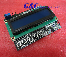 New 1602 LCD Board Keypad Shield Blue Backlight For Arduino Duemilanove Robot M1