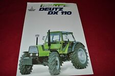 Deutz DX 110 Tractor Dealer's Brochure CNNB