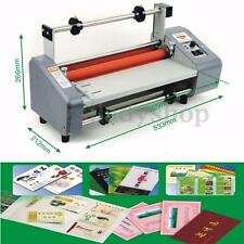 220V 50Hz 13'' Four Rollers Hot and Cold Roll A3 Laminator Laminating Machine