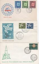 SET OF THREE 1968 EUROPA FIRST DAY COVERS FROM  ITALY, SAN MARINO & SPAIN.