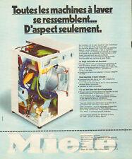 Publicité 1975  Machine à laver  Lave linge MIELE