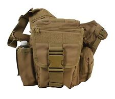 Lightweight MOLLE Advanced Tactical Travel Shoulder Bag Bug Out Pack Coyote