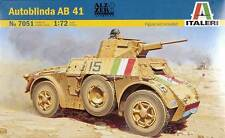 Italeri 7051 Military Model Kit Autoblinda AB 41 Scale 1:72