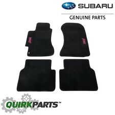 2002-07 Subaru Impreza WRX STI Custom Carpet Floor Mats Black OEM NEW SCI440B202