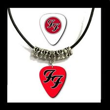 FOO FIGHTERS  -  Guitar Pick Necklace *Leather Style* + Bonus FREE Pick.