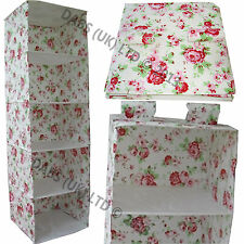 Skubb Clothes Hanging Wardrobe Organiser Rosali Fabric By Kath Kidston For Ikea