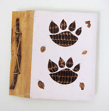 Small hand-made Photo album DOG'S PAW white cover/hand-made paper new