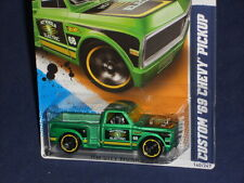Hot Wheels City Works '12 Series 10/10 Custom '69 Chevy Pickup  Satin Green