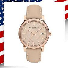 *USA SELLER* Swiss Made New Authentic Burberry Unisex Rose Gold Watch BU9014