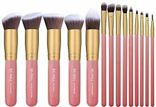 BS-MALL New 14 Pcs Premium Synthetic Kabuki Makeup Brush Set Cosmetics Founda...