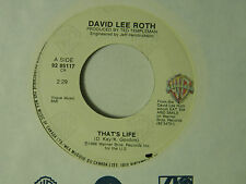 David Lee Roth 45 THAT'S LIFE / BUMP & GRIND ~ WB VG++ rock (Canadian)