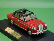 MB Mercedes Benz 220 s ponton w180 rouge FALLER Memory Cars 4327 1:43