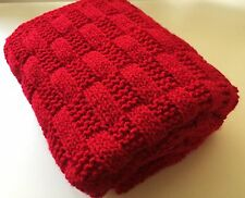 Knitting pattern-  Rectangles Simple Baby Blanket