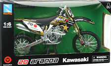Kawasaki KX450F 1:6 Bud Racing 2010 Gregory Aranda # 20 die cast bike model