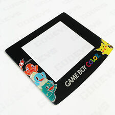 Nintendo Game Boy Color GBC Screen Lens Protector Pokemon Pikachu Squirtle NEW