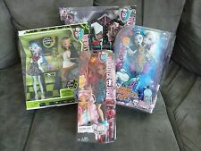 Monster High LOT FRIGHTS CAMERA ACTION Dressing Room Cleo Ghoulia Lab Partners +