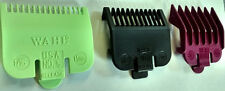 WAHL COLOUR CLIPPER ATTACHMENT COMBS **Pack of 3** - SIZES: 0.5 / 1 / 1.5