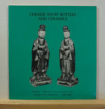 Sotheby's Chinese Snuff Bottles and Ceramics 2/20/1975 Auction Catalog