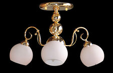 "Medium 3-light Ceiling Mount Fixture (D19"" xH12"") SALE Contemporary Design GOLD"